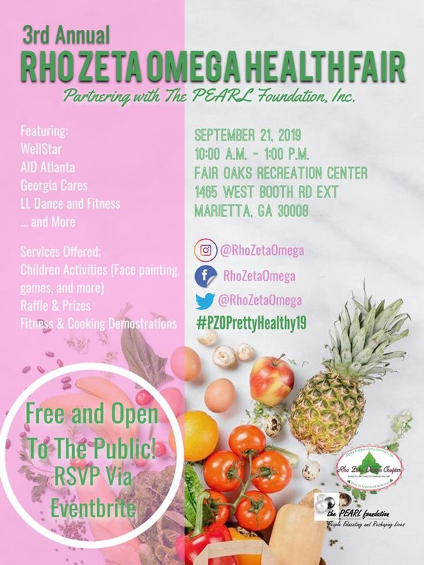 2019 Health Fair Flyer; provides time, place and activity details