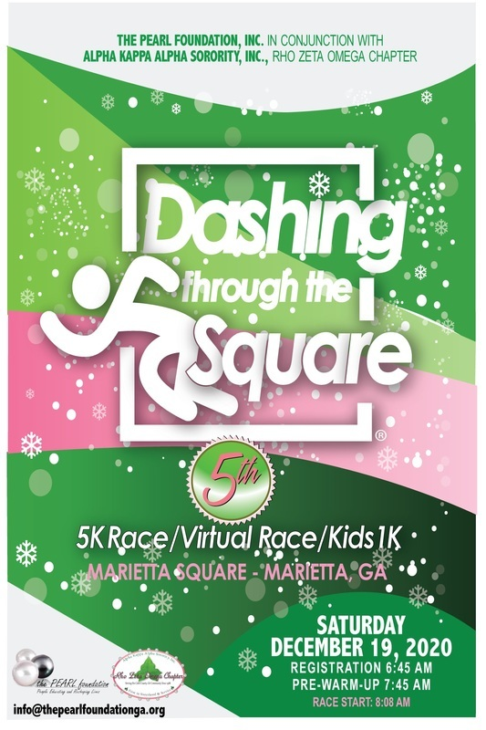 Dashing Through the Square 5K Flyer, includes event details