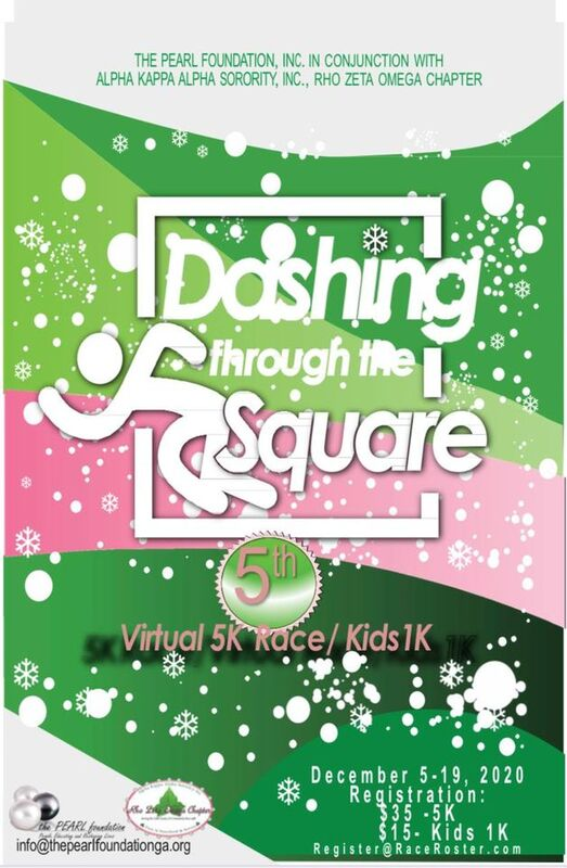 2021 Dashing Through the Square Race Flyer